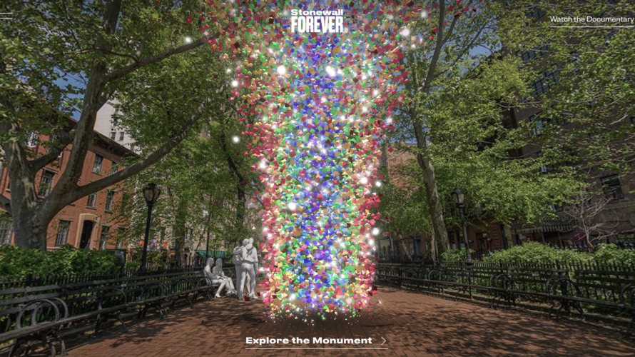 LGBTQ+プライド50周年をたたえ、AR技術を使った斬新なオンライン記念碑「Stonewall Forever(ストーンウォール フォーエバー)」が登場!